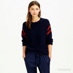 J.Crew Collection |Cashmere sweater varsity stripe